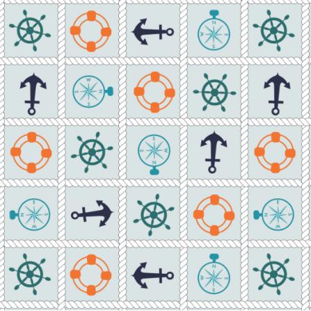 Tkanina 15956 | Nautical