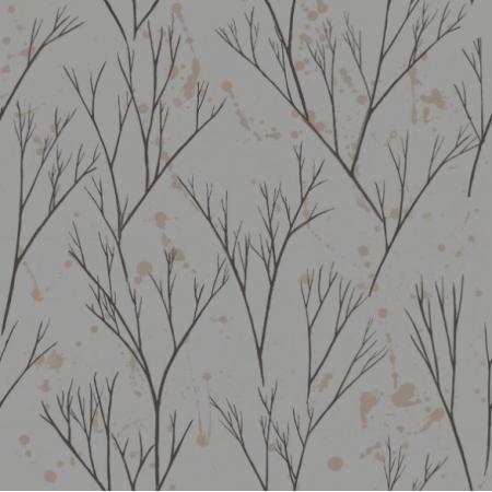 Tkanina  | brązowe drzewka