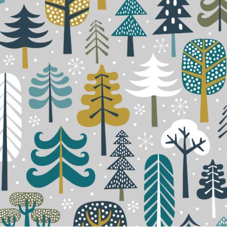 15967   Winter Forest // light grey