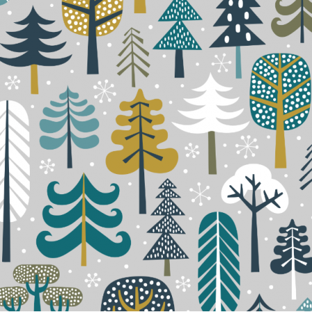 Fabric 15967 | Winter Forest // light grey