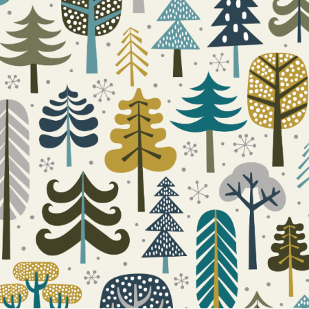 Fabric 15970 | Winter Forest // cream