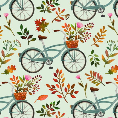 Fabric 15973 | Autumn bike ride // mint