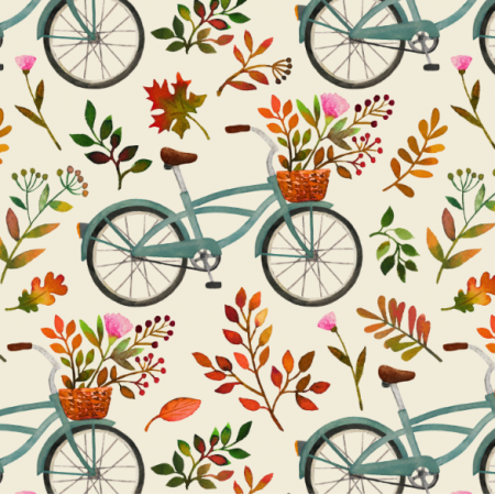 Fabric 15974 | Autumn bike ride // cream