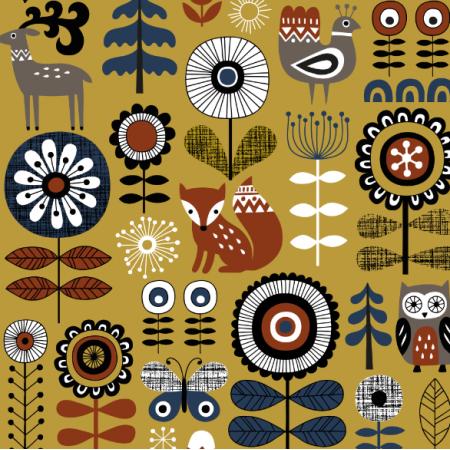 15978 | Scandinavian Woodland // mustard