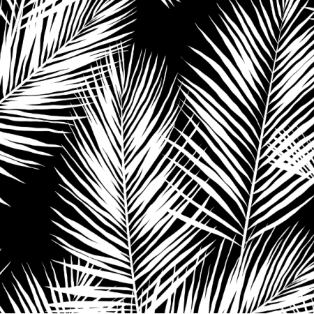 16003 | palm leaves // white on black