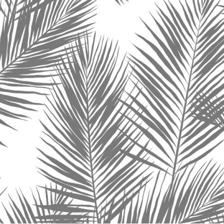 16006 | palm leaves // grey on white