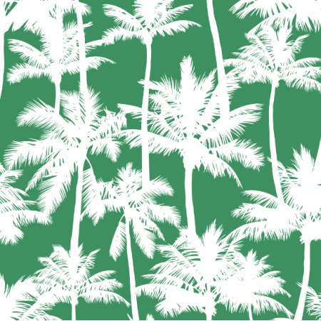 16016 | Palm trees // white on green