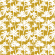 Tkanina 16018 | Palm trees // white on mustard