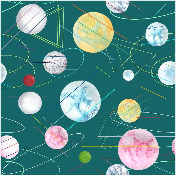 Tkanina 16021 |  chaos of the space