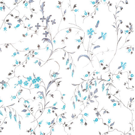 Fabric 16022 | l'ete indien blue ornament