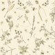 Fabric 16038 | KWIATY I OWADY KREMOWE TŁO -  FLOWERS & INSECTS ON CREAMY BACKGROUND