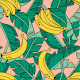 Fabric 16043 | Bananas and leaves // blush