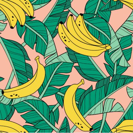 16043 | Bananas and leaves // blush
