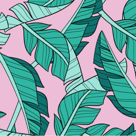 16046 | Banana leaves // pink
