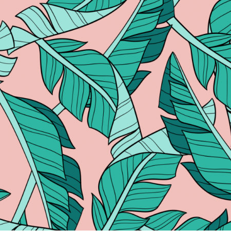 16047 | Banana leaves // blush