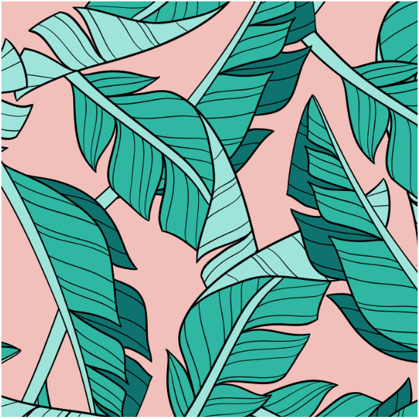 Fabric 16047 | Banana leaves // blush