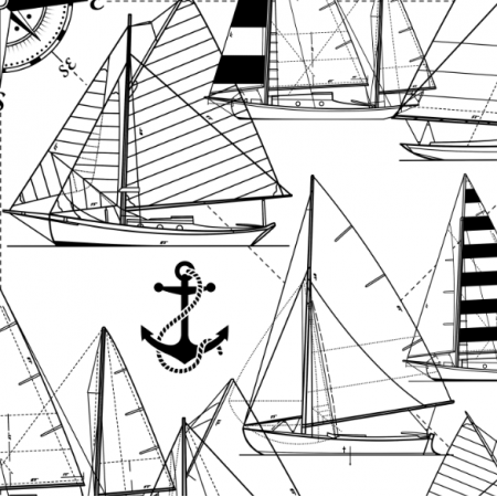 16048 | Sailboats // black