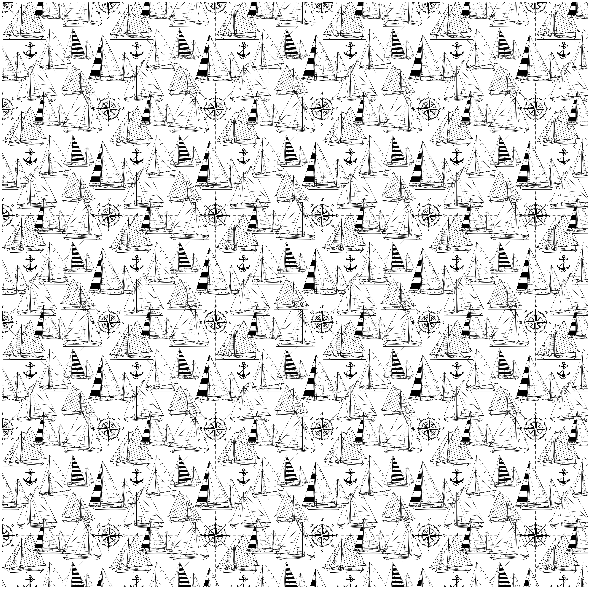 Fabric 16048 | Sailboats // black