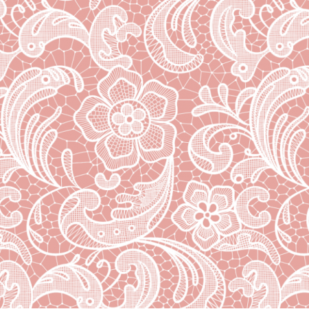 Fabric 16051 | Floral lace // blush