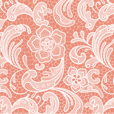 Fabric 16052 | Floral lace // coral