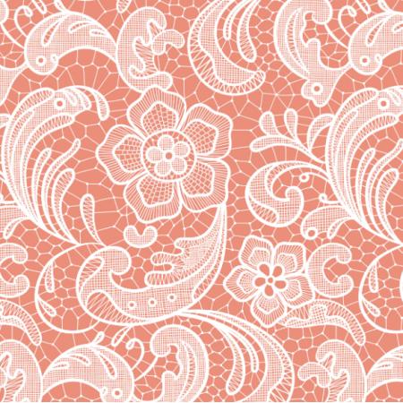 16052 | Floral lace // coral