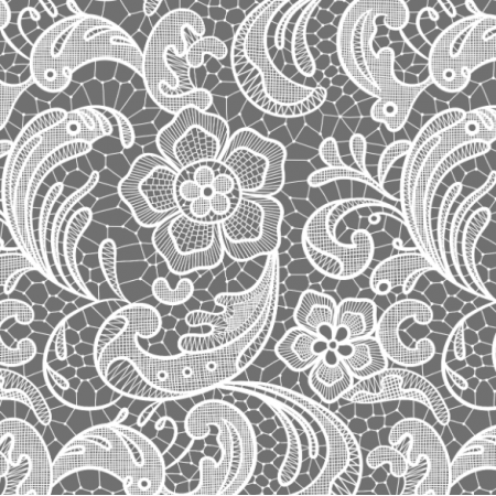 Fabric 16053 | Floral lace // grey