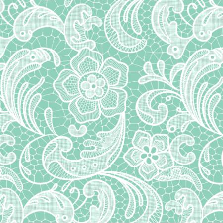 16055 | Floral lace // mint