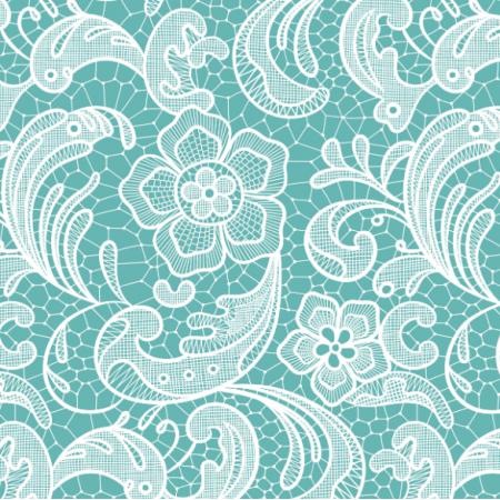 Tkanina 16056 | Floral lace // teal