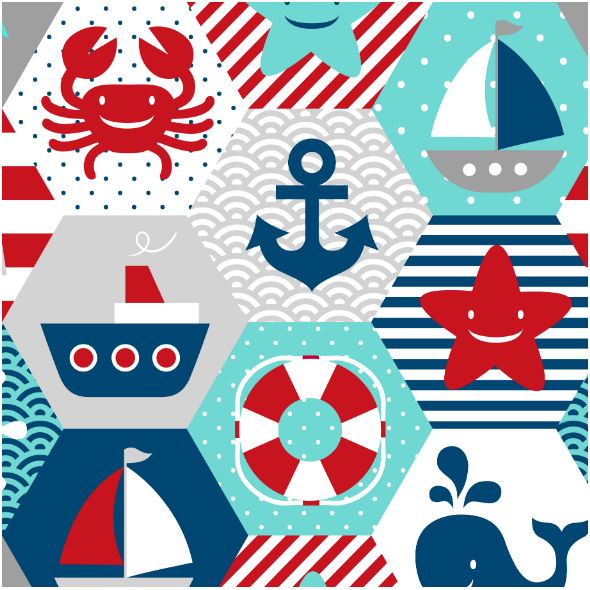 Fabric 16058 | NAutical quilt // white