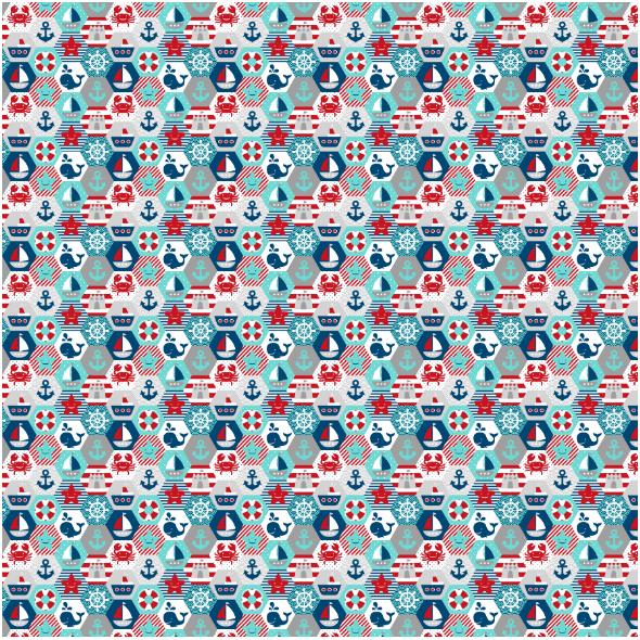 Fabric 16058 | NAutical quilt // white