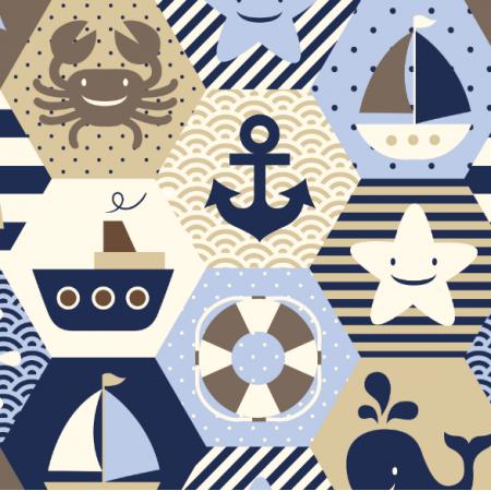 16059 | NAutical quilt // cream