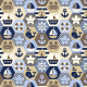 Fabric 16059 | NAutical quilt // cream