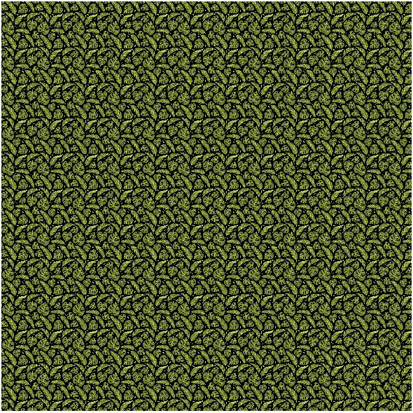 Fabric 16061 | Tropical leaves // black
