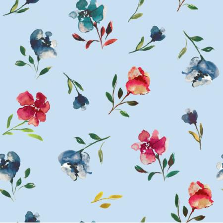 Fabric 16087   Soring Meadow 3 - 20x20cm