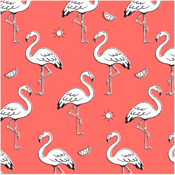 Fabric 16097 | Flamingo