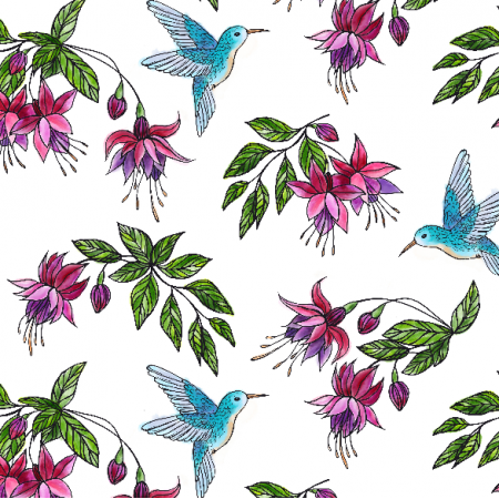 Fabric 16100 | hummingbirds