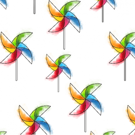Fabric 16118 | Rainbow fans