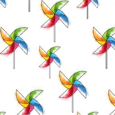 Tkanina 16118 | Rainbow fans