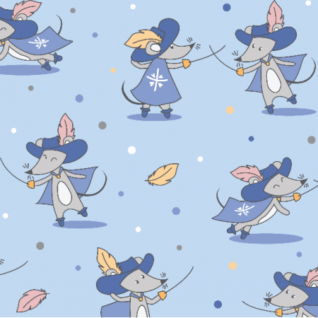 Fabric 16138 | Mouseketeers on blue
