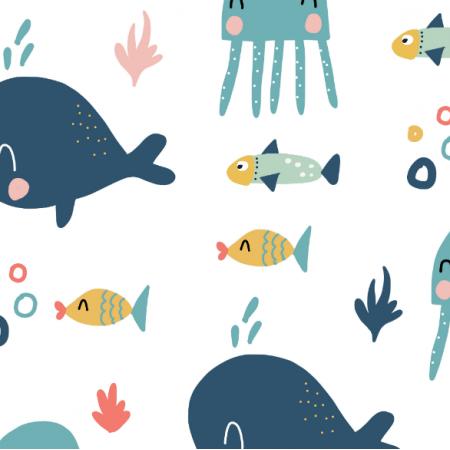 Tkanina 16161 | rybki
