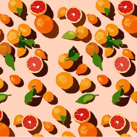 16174 | Oranges on an orange background0