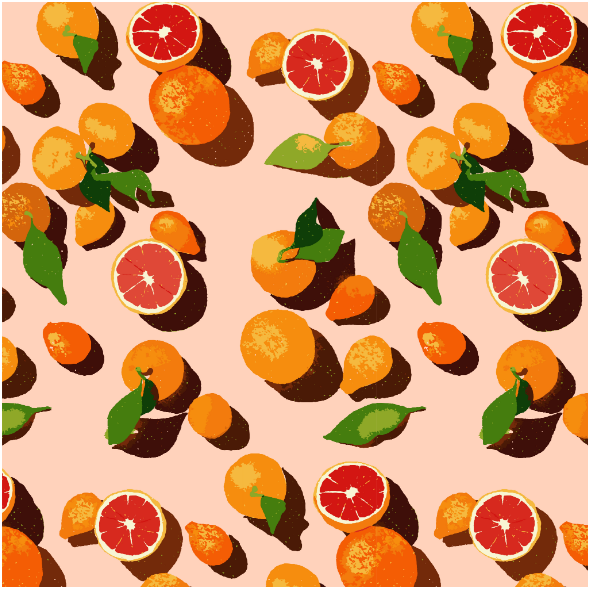 Tkanina 16174 | Oranges on an orange background0