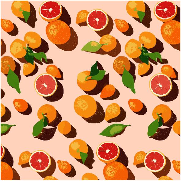 Tkanina 16174 | Oranges on an orange background0