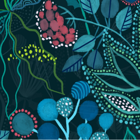 Fabric 16196 | australian flora design. flowers and plants. botanical design.