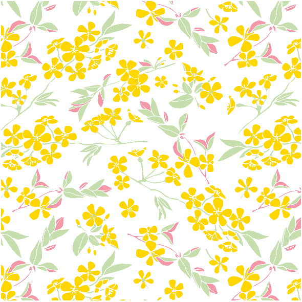 Fabric 1780 | kwitnący sad