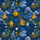 Fabric 16197 | Cats and rain. funny animals in the garden.