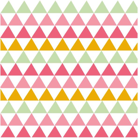Tkanina 1785 | słodkie trójkąty