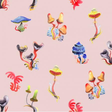 Fabric 16292 | małe grzybki