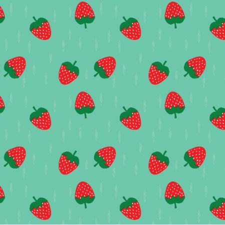 Fabric 16315 | Truskawka Strawberry on minty0