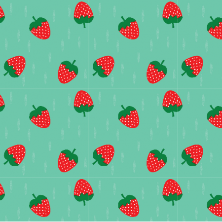 Fabric 16315 | Truskawka Strawberry on minty0